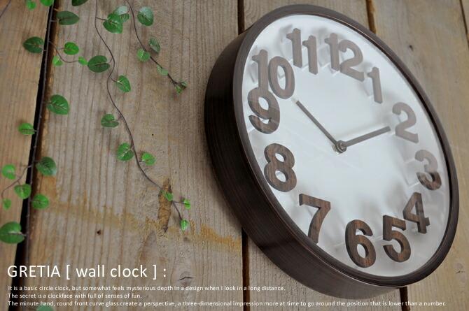 見やすい文字盤のシンプルデザイン電波時計「GRETIA」
