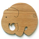 Elephant Coaster Wooden Toys (Ginga Kobo Toys) Japan