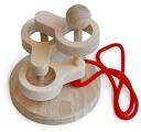 SCULPTURAL LINK PUZZLE (3 LEVEL) Wooden Toys (Ginga Kobo Toys) Japan
