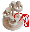 SCULPTURAL LINK PUZZLE (4 LEVEL) Wooden Toys (Ginga Kobo Toys) Japan