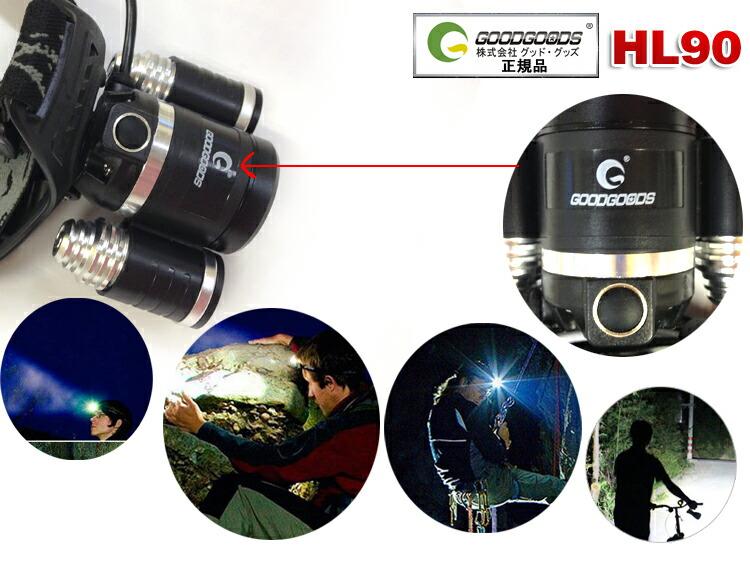 ヘッドランプ 釣り ヘッドライト LED 登山 防水 充電式 角度調節 ストロボ機能付き