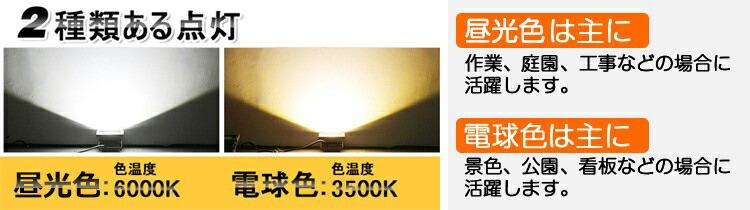 50WLED投光器 500W相当 AC85V〜265V対応 省エネ 防水