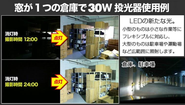 最新 薄型 LED投光器 30投光器 省エネ サーチライト 屋外照明