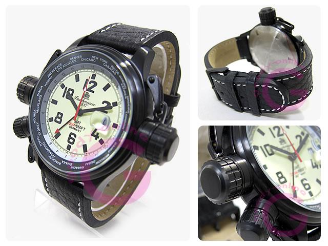 Aeromatic 1912 (エアロマティック1912) Tauchmeister1937(トーチマイスター1937) T0183 ドイツミリタリー GMT U-Boatモデル メンズウォッチ 腕時計