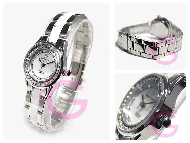 ANNE CLARK (アンクラーク)  AM-1024-09 ラインストーン レディースウォッチ 腕時計