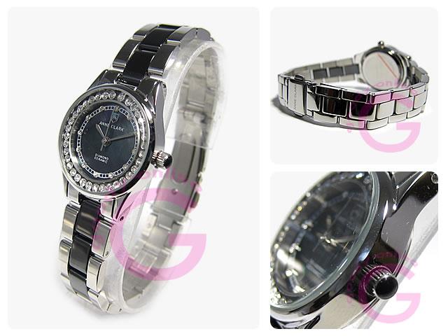 ANNE CLARK (アンクラーク)  AM-1024-11 ラインストーン レディースウォッチ 腕時計