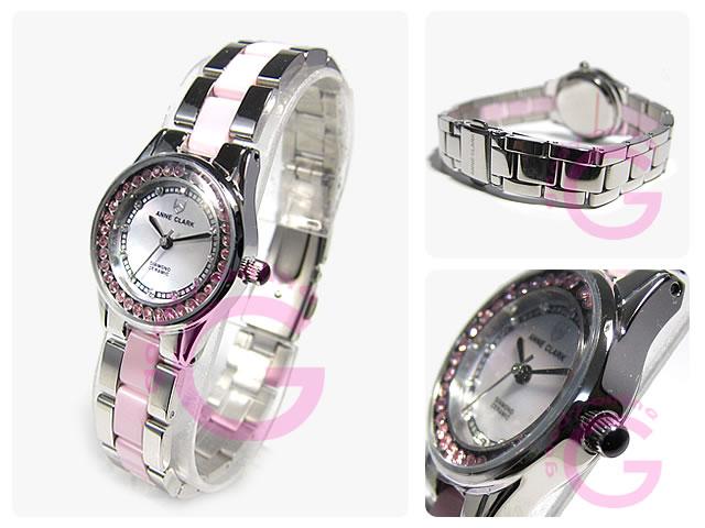 ANNE CLARK (アンクラーク)  AM-1024-17 ラインストーン レディースウォッチ 腕時計