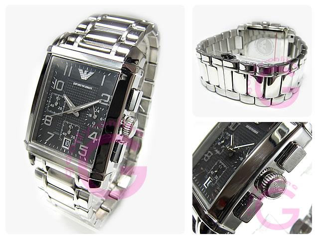 EMPORIO ARMANI / エンポリオアルマーニ AR0334 クラシック クロノグラフ メンズウォッチ 腕時計