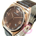 EMPORIO ARMANI (Emporio armani) AR0367 classical music leather belt pink gold men watch watch