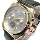 EMPORIO ARMANI (Emporio armani) AR0372 nu nostalgic chronograph leather belt gold men watch watch