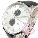 EMPORIO ARMANI ( Emporio Armani ) AR0385 classic chronograph leather belts silver mens watch