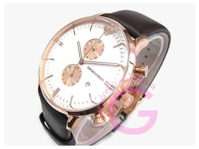 EMPORIO ARMANI / エンポリオアルマーニ AR0398 クロノグラフ メンズウォッチ 腕時計