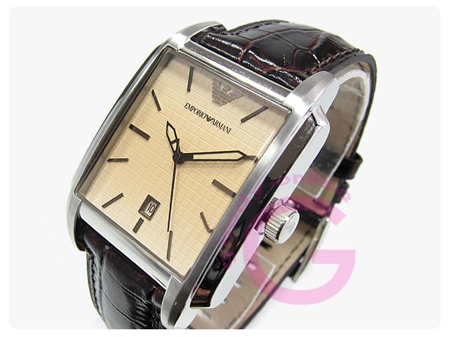 EMPORIO ARMANI / エンポリオアルマーニ AR0477 クラシック スクエア メンズウォッチ 腕時計