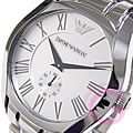 EMPORIO ARMANI (Emporio armani) AR0647 classical music Small second metal belt men watch watch
