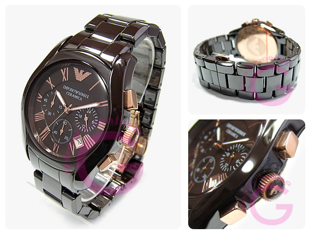 Armani Brown Ceramic Watch