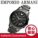 An EMPORIO ARMANI (Emporio Armani) AR1452 CERAMICA / Ceramica ceramic chronograph black boys size mens watch watches