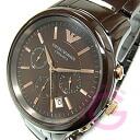 EMPORIO ARMANI ( Emporio Armani ) AR1454 CERAMICA / Ceramica ceramic chronograph Brown mens watch
