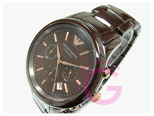 Armani Brown Ceramic Watch