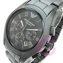 EMPORIO ARMANI ( Emporio Armani ) AR1457 CERAMICA / Ceramica ceramic chronograph Matt Black mens watch