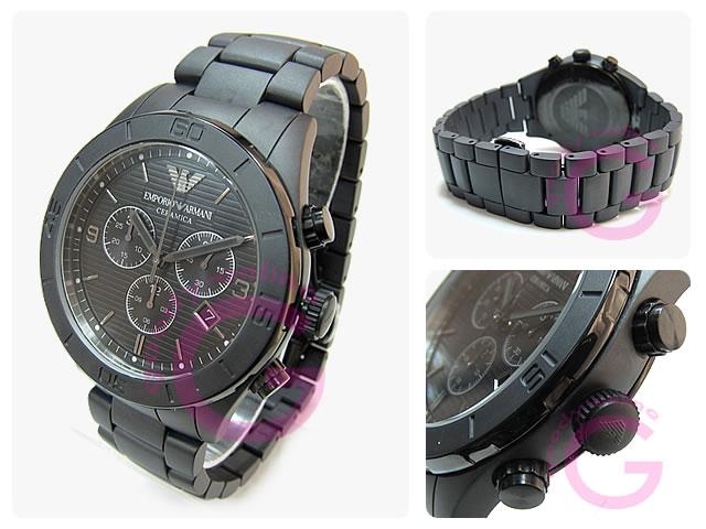 EMPORIO ARMANI / エンポリオアルマーニ AR1458 セラミカ セラミック クロノグラフ メンズウォッチ 腕時計