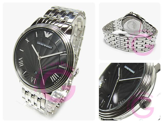 EMPORIO ARMANI / エンポリオアルマーニ AR1614 ニューレトロ ステンレスベルト メンズウォッチ 腕時計