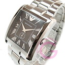 EMPORIO ARMANI (Emporio armani) AR1642 square Small second stainless steel belt black men watch watch