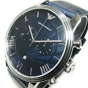 EMPORIO ARMANI (Emporio armani) AR1652 nu nostalgic chronograph leather belt navy men watch watch