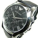 EMPORIO ARMANI (Emporio armani) AR1700 classical music chronograph leather belt black men watch watch
