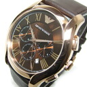 EMPORIO ARMANI (Emporio armani) AR1701 classical music chronograph leather Berthelot's gold men watch watch