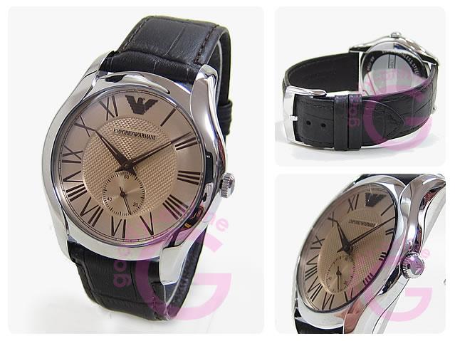 EMPORIO ARMANI (エンポリオ アルマーニ) AR1704 Valente/バレンテ レザーベルト ゴールドダイアル メンズウォッチ 腕時計