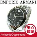 An EMPORIO ARMANI (Emporio Armani) AR1706 classic black dial metal belt mens watch watches