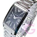 EMPORIO ARMANI ( Emporio Armani ) AR2054 super slim metal belt black ladies watch watches