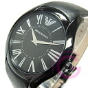 EMPORIO ARMANI (Emporio armani) AR2059 supermarket slim leather belt oar black men watch watch