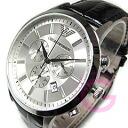 Classic leather belt chronograph silver watch AR2432 EMPORIO ARMANI ( Emporio Armani )