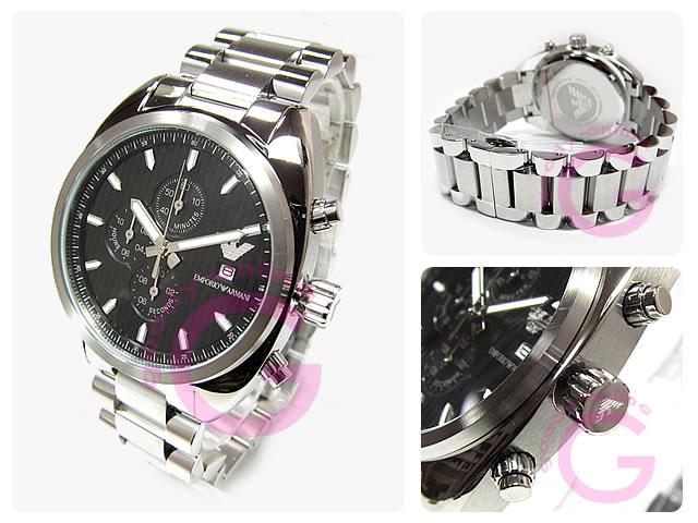 EMPORIO ARMANI / エンポリオアルマーニ AR5957 クロノグラフ ステンレスベルト メンズウォッチ 腕時計