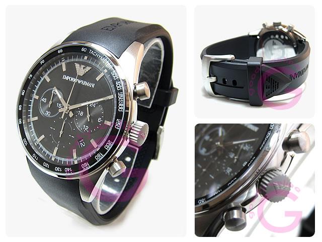 EMPORIO ARMANI / エンポリオアルマーニ AR5977 クロノグラフ ラバーベルト メンズウォッチ 腕時計