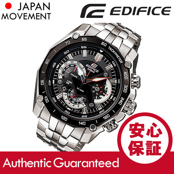 CASIO EDIFICE (カシオ エディフィス) EF-550D-1A/EF550D-1A クロノグラフ メタルベルト ブラックダイアル メンズウォッチ 海外モデル 腕時計