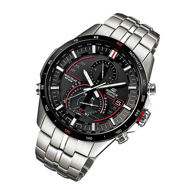 CASIO EDIFICE (カシオ エディフィス) EQS-A500DB-1A/EQSA500DB-1A タフソーラー ワールドタイム メタルベルト メンズウォッチ 海外モデル 腕時計