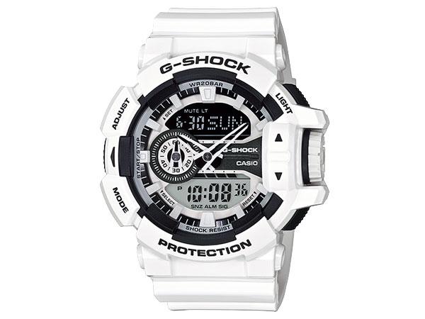 CASIO G-SHOCK(カシオ Gショック) GA-400-7A/GA400-7A HYPER COLORS/ハイパーカラーズ アナデジ  ホワイト 腕時計 (日本版型番:GA-400-7AJF/GA400-7AJF)