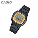 CASIO (CASIO) LA-20WH-9A/LA20WH-9A standard digital black × yellow dial ladies watch watches