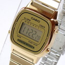 CASIO (CASIO) LA-670WGA-9/LA 670WGA-9 simple digital gold yellow ladies watch watches