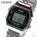 It is recommended for CASIO (Casio) LA-680WA-1/LA680WA-1 standard digital silver X black kids, child! Pretty! Lady's watch watch