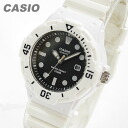 CASIO (CASIO) LRW-200H-1E/LRW200H-1E sports gear military White x black pair model ladies watch watches