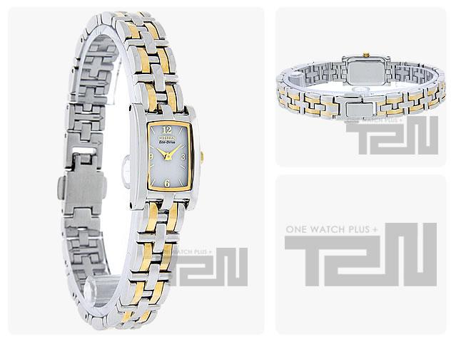 CITIZEN (シチズン) EG2344-51A Eco-Drive/エコドライブ Silhouette/シルエット メタルベルト ゴールド×シルバー コンビ レディースウォッチ 腕時計