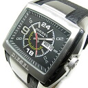 DIESEL (diesel) DZ1215 square leather belt men's watch