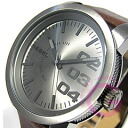 DIESEL (diesel) DZ1467 leather belt gunmetal watch