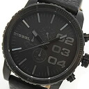 DIESEL (diesel) DZ4216 leather belt black chronograph men's watch