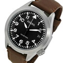 FOSSIL ( fossil ) AM4512 The Aeroflite, Aero flight leather belt black dial men's watch