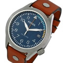 FOSSIL ( fossil ) AM4554 The Aeroflite, Aero flight leather belt blue dial men's watch