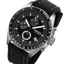 FOSSIL ( fossil ) CH2573 Dexter / Dexter chronograph rubber belt black / silver watch